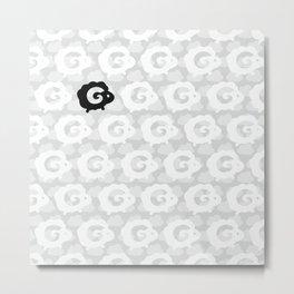 Black Sheep Pattern Metal Print
