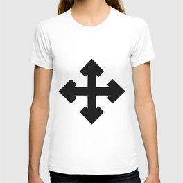 Pointed Krückenkreuz Crutch Cross Martial Heathen symbols T-shirt
