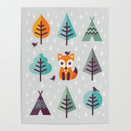 FOX IN THE FOREST Poster