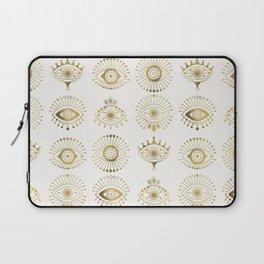 Evil Eyes – Gold Palette Laptop Sleeve