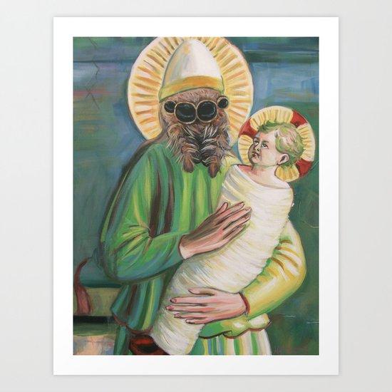Spider with Christ Child Art Print