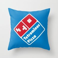 Tetrominos Pizza Throw Pillow