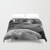 horses Duvet Covers featuring HORSES by Francesca Todde