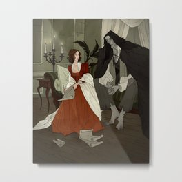 Mary Shelley and Her Creation Metal Print