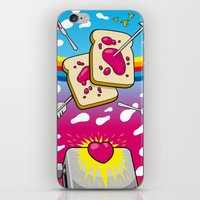 nirvana iPhone & iPod Skins featuring Breakfast Nirvana by Kazze