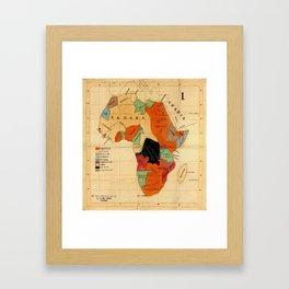 Map Of Africa 1908 Framed Art Print