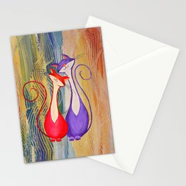 Cat Painting 06 Stationery Cards