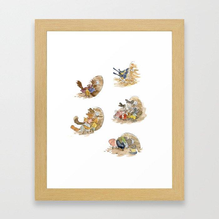 L'Abri - the neighbors Framed Art Print