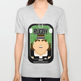 Rugby Black - Maul Propknockon - June version Unisex V-Neck
