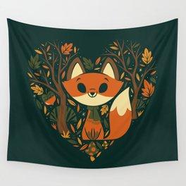 Foxy Heart Wandbehang