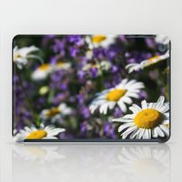 rileigh smirl iPad Cases featuring Field of Daisies by Rileigh Smirl