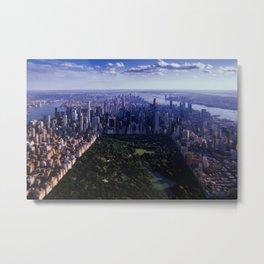 New York City // Retro 10 Metal Print