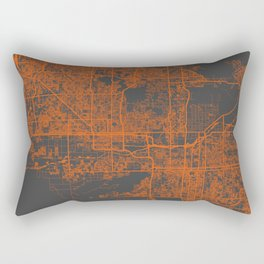 Phoenix map orange Rectangular Pillow