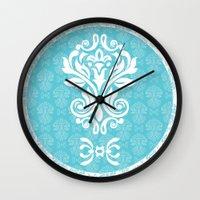 damask Wall Clocks featuring Damask by VanyNany