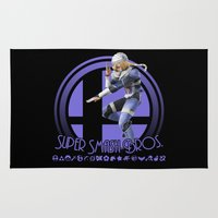 super smash bros Area & Throw Rugs featuring Sheik - Super Smash Bros. by Donkey Inferno
