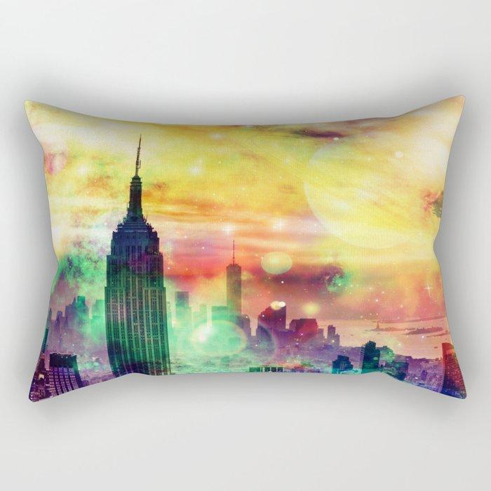 New York Fantasy Rectangular Pillow
