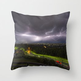 Summer Storm Over Brisbane Throw Pillow