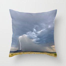 Storm over Matterhorn Mesa north of Drake AZ Throw Pillow