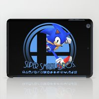 super smash bros iPad Cases featuring Sonic - Super Smash Bros. by Donkey Inferno