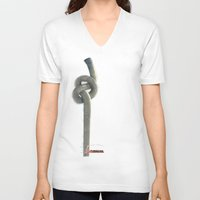 industrial V-neck T-shirts featuring Industrial Brezel by CrismanArt