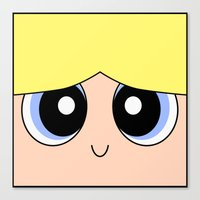 powerpuff girls Canvas Prints featuring Bubbles -The Powerpuff Girls- by CartoonMeeting