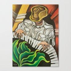 Guajiro al Piano Canvas Print