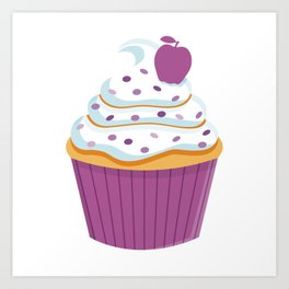 Cartoon Cupcake Art Print