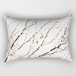 Snowy birch twigs and leaves #society6 #decor #buyart Rectangular Pillow