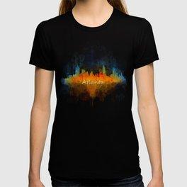 Atlanta City Skyline UHq v4 T-shirt