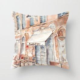 Old Italian street Throw Pillow