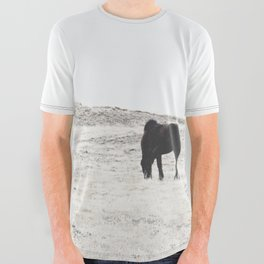 WILD AND FREE  1 - HORSES OF ICELAND All Over Graphic Tee