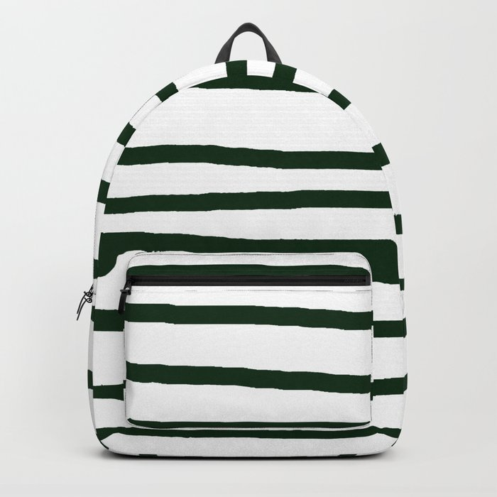 Simply Drawn Stripes in Pine Green Backpack