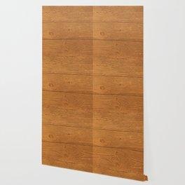 The Cabin Vintage Wood Grain Design Wallpaper