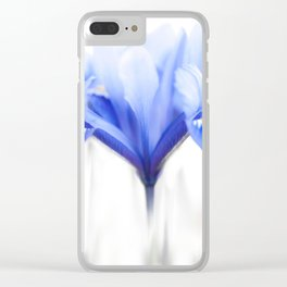 Blue Iris 1 Clear iPhone Case
