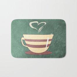 Coffee is love illustration Bath Mat