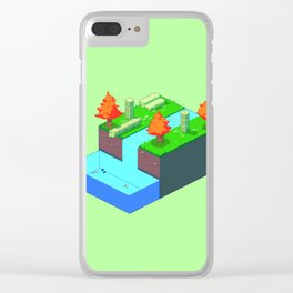 Isometric Riverside Clear iPhone Case