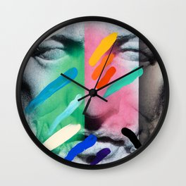 Composition on Panel 6 Wall Clock