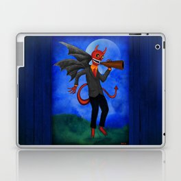 The Devil Appeared Growling Through An Old Megaphone Laptop & iPad Skin
