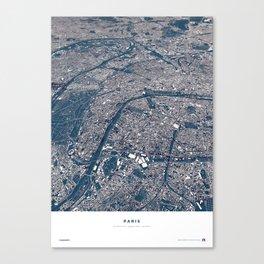 Paris - City Map II Canvas Print