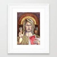 kurt rahn Framed Art Prints featuring Kurt by KTO Illustration