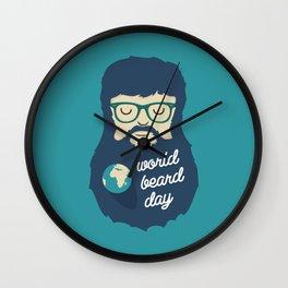 World Beard Day Wall Clock
