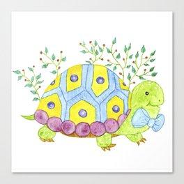 Colorful turtle Canvas Print