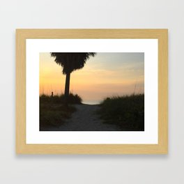 Morning Path to the Ocean Framed Art Print
