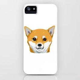 a shiba inu dog headshot iPhone Case