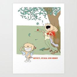 Sniper Cupid Art Print
