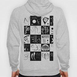 Kandinsky - Black and White Pattern - Abstract Art Hoody