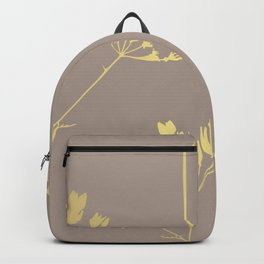 Golden Flowers Backpack