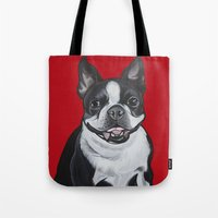 coco Tote Bags featuring Coco by Pawblo Picasso