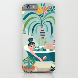 Relaxing Bath iPhone Case