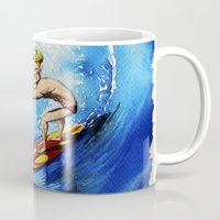 surfer Mugs featuring Surfer by Jose Luis Ocana
